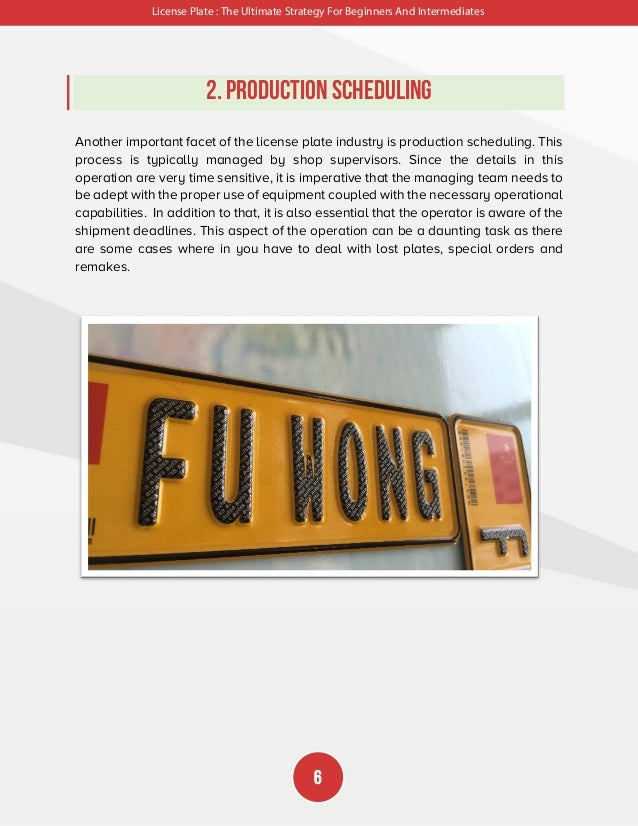 License Plate : The Ultimate Strategy For Beginners And Intermediates 7 3. Materials Although there are wide array of mate...