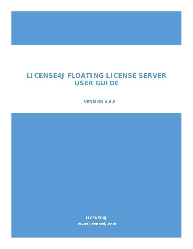 Floating License Server User Guide