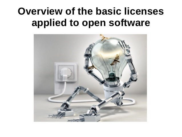 Overview of the basic licenses  applied to open software