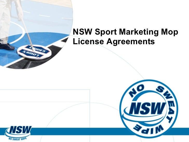NSW Sport Marketing Mop License Agreements
