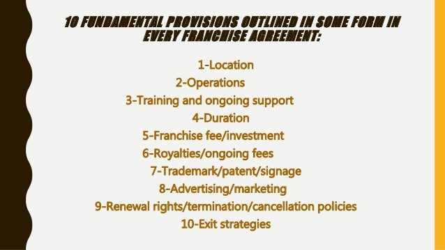 ... Strategies; 25. THINGS YOU HAVE TO KNOW ABOUT FRANCHISE CONTRACTS ...
