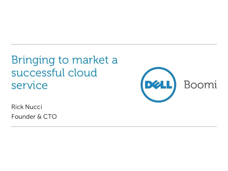 Bringing to market a successful cloud service<br />Rick Nucci<br />Founder & CTO<br />