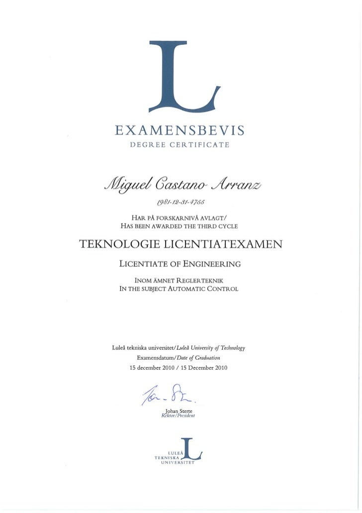 Licentiate diploma