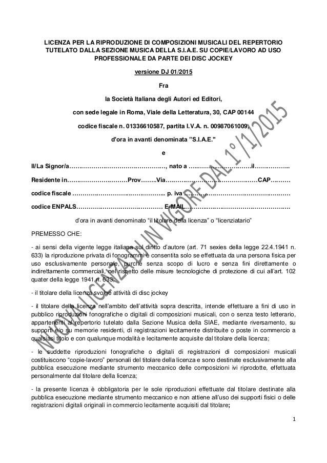 Licenza dj 2015 - Contratto di compravendita immobiliare fac simile ...