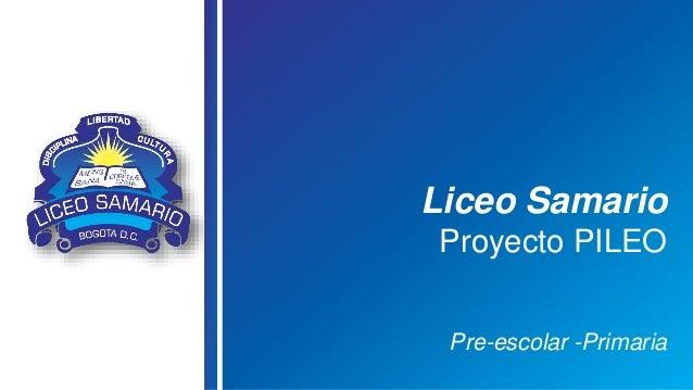 Liceo Samario Proyecto PILEO Pre-escolar -Primaria