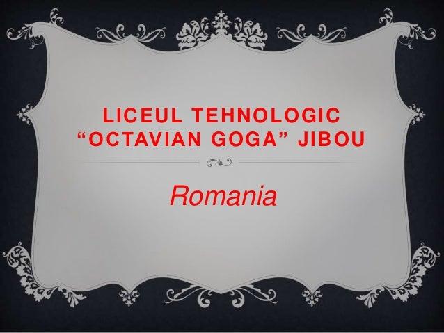 "LICEUL TEHNOLOGIC ""OCTAVIAN GOGA"" JIBOU Romania"