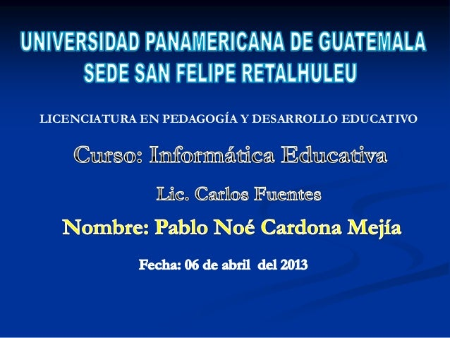 LICENCIATURA EN PEDAGOGÍA Y DESARROLLO EDUCATIVO