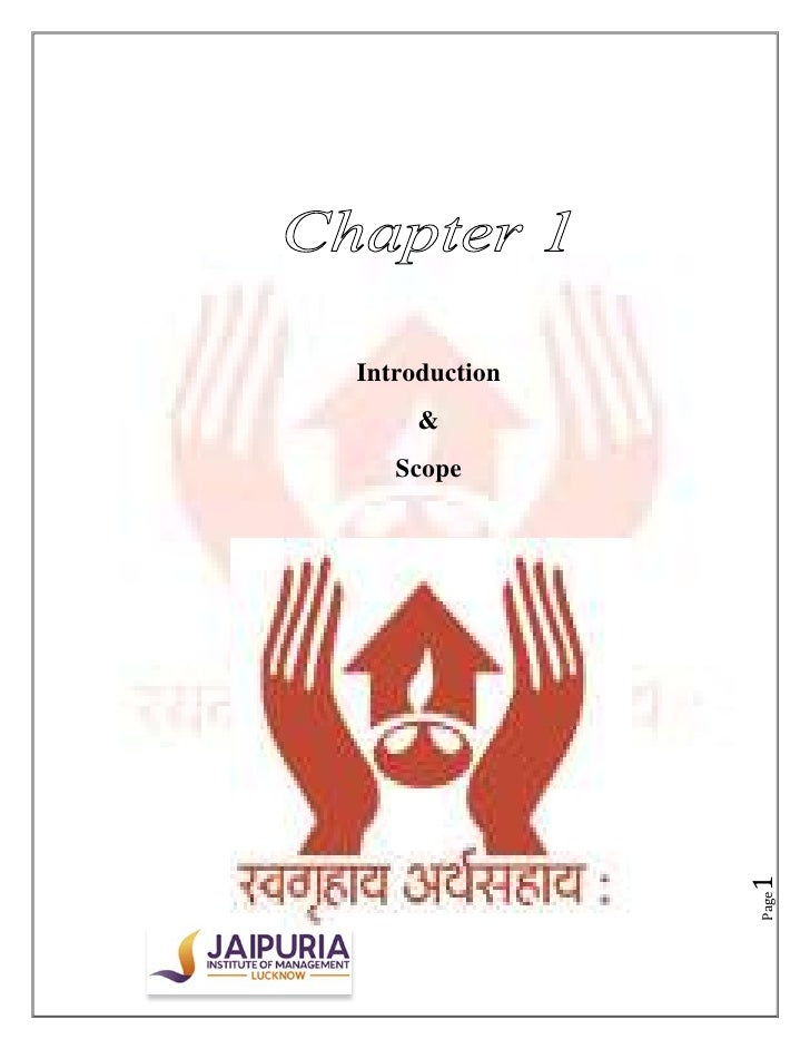 Introduction     &   Scope               1               Page