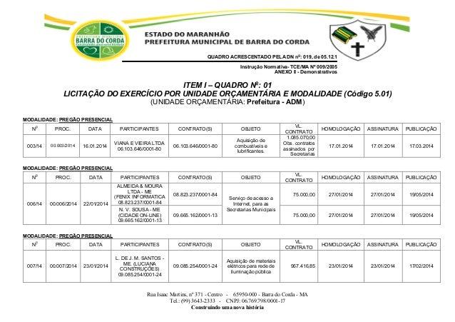 Rua Isaac Martins, nº 371 - Centro - 65950-000 - Barra do Corda - MA Tel.: (99) 3643-2333 - CNPJ: 06.769.798/0001-17 Const...