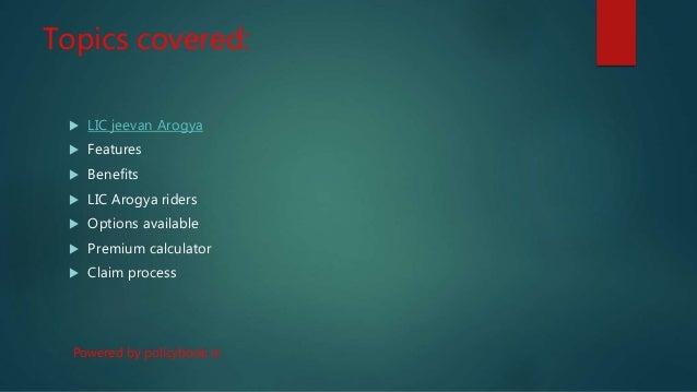 Lic jeevan arogya Slide 2