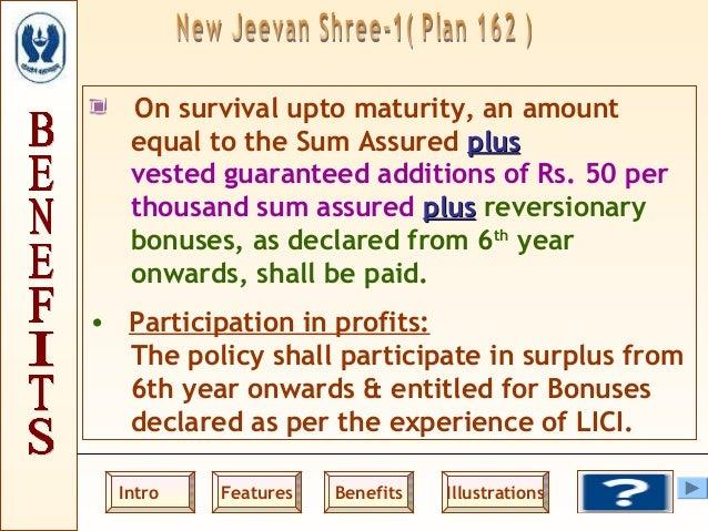 Lic Jeevan Shree 162 Maturity Calculator