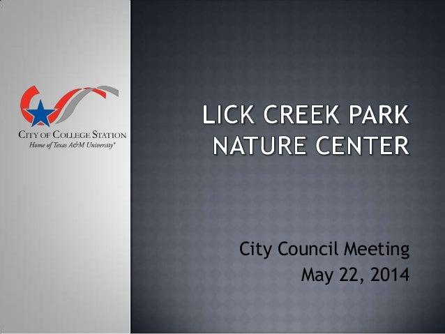 City Council Meeting May 22, 2014