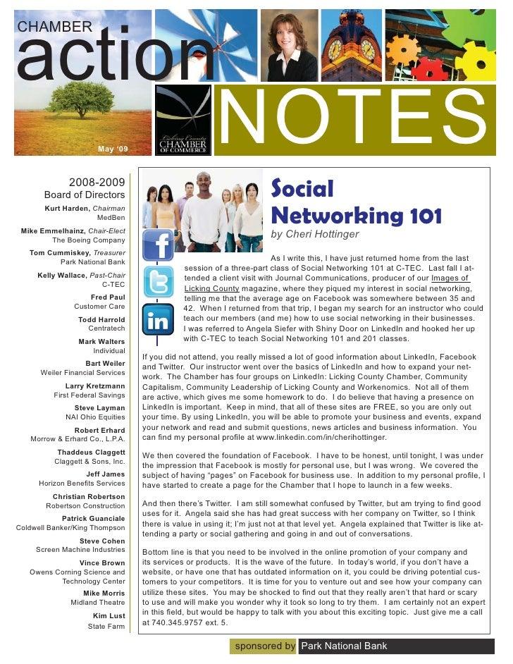 action CHAMBER           NOTES            May '09                  2008-2009        Board of Directors                    ...