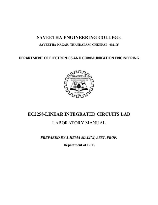 SAVEETHA ENGINEERING COLLEGE         SAVEETHA NAGAR, THANDALAM, CHENNAI - 602105DEPARTMENT OF ELECTRONICS AND COMMUNICATIO...