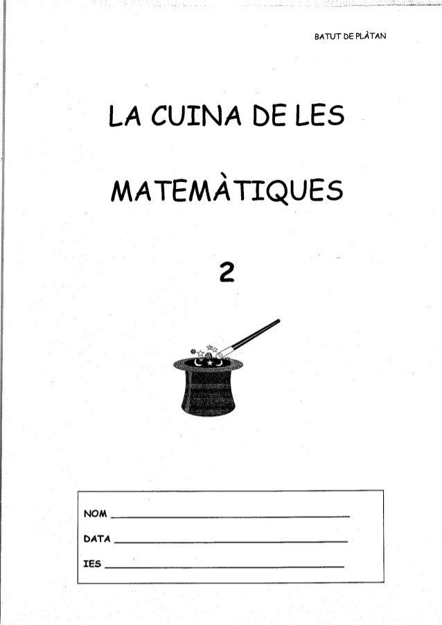Lic la cuina de les matemàtiques 2