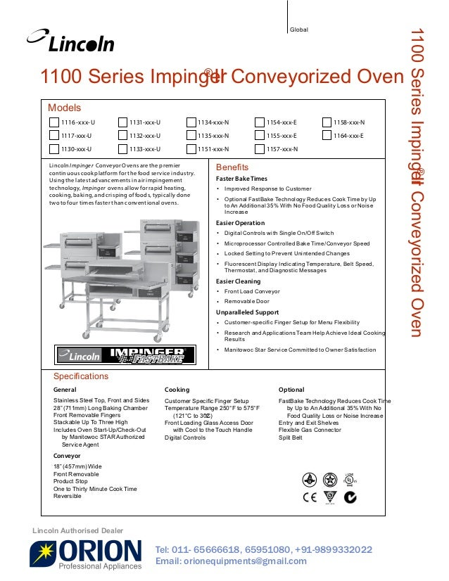 lincoln impinger pizza oven gas double stacked conveyor belt in rh slideshare net