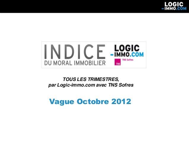 TOUS LES TRIMESTRES,par Logic-immo.com avec TNS SofresVague Octobre 2012