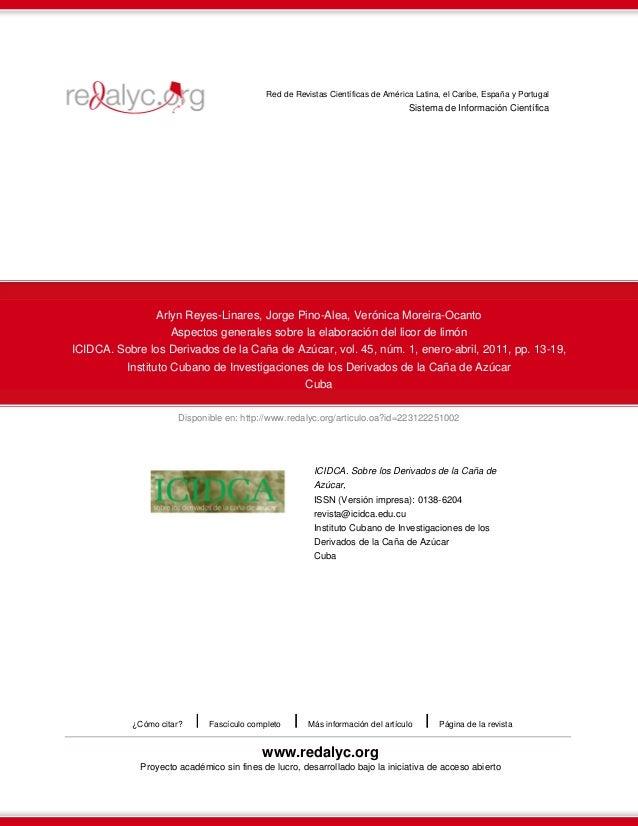 Red de Revistas Científicas de América Latina, el Caribe, España y Portugal  Sistema de Información Científica  Arlyn Reye...
