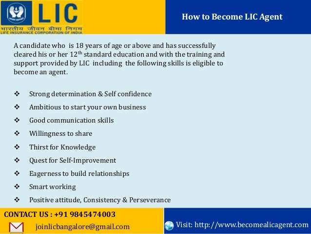 how to become lic agent quora
