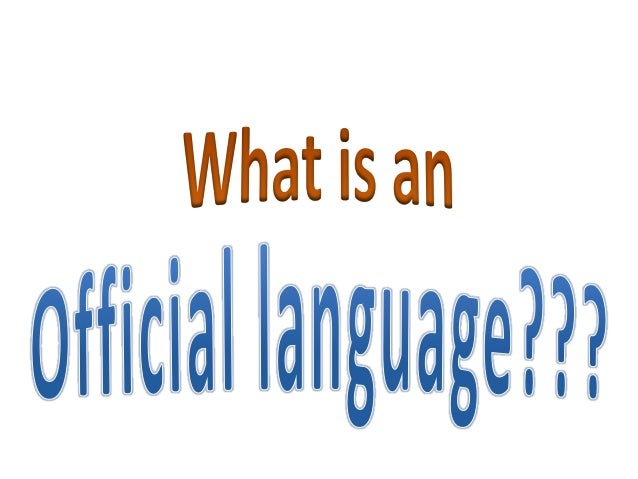 why english should be the official language