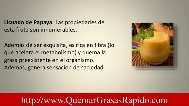 Licuado de papaya y apio para bajar de peso