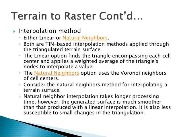 Natural Neighbor Vs Linear Interpolation