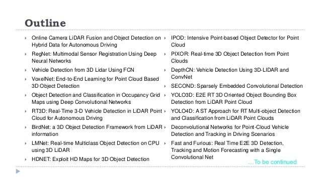 Lidar for Autonomous Driving II (via Deep Learning)
