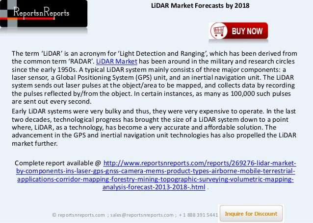 Lidar Industry Future Trends And Growth Opportunities To 2018