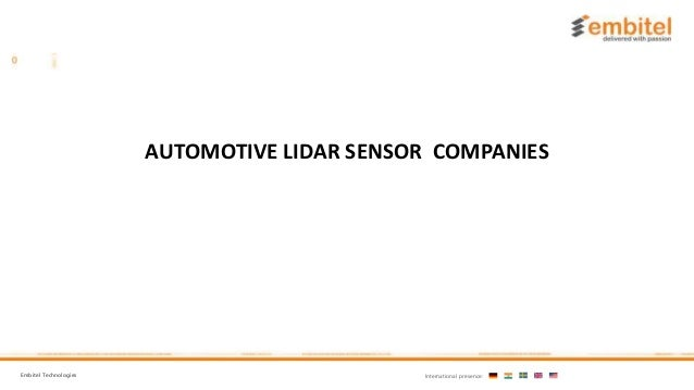 AUTOMOTIVE LIDAR SENSOR COMPANIES