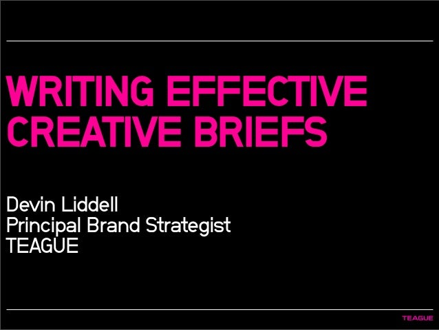 ogilvy creative brief template - writing effective creative briefs