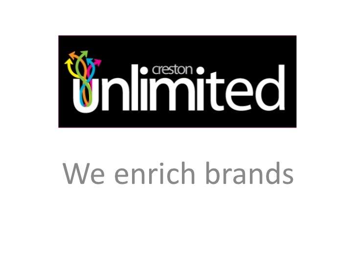 We enrich brands<br />
