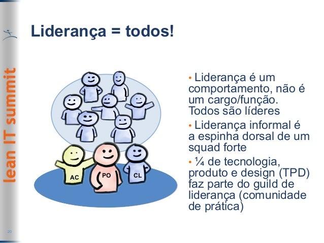 Liderança = todos! 20 • Liderança é um comportamento, não é um cargo/função. Todos são líderes • Liderança informal é a ...