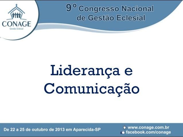 Liderança e Comunicação