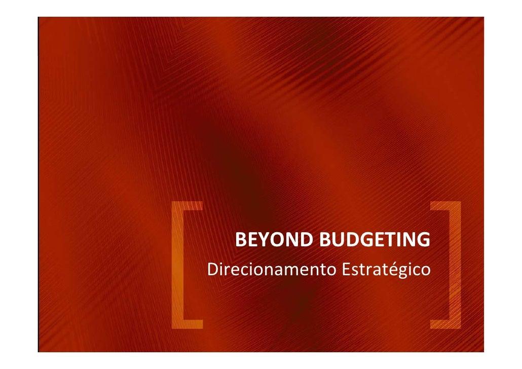 BEYONDBUDGETING DirecionamentoEstratégico