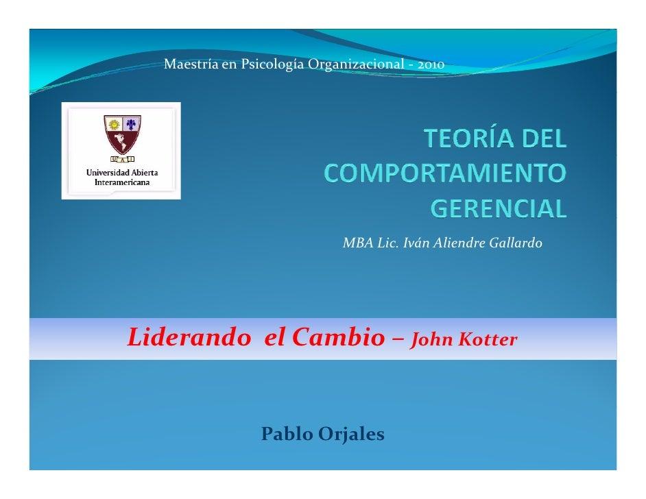 MaestríaenPsicologíaOrganizacional‐ 2010                                   MBALic.IvánAliendreGallardo     Lideran...