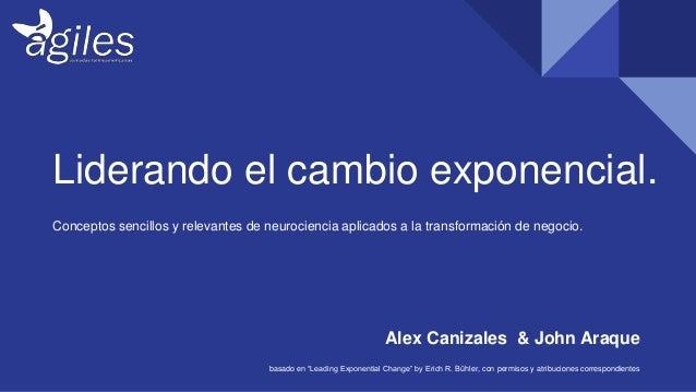 Liderando el cambio exponencial. Conceptos sencillos y relevantes de neurociencia aplicados a la transformación de negocio...