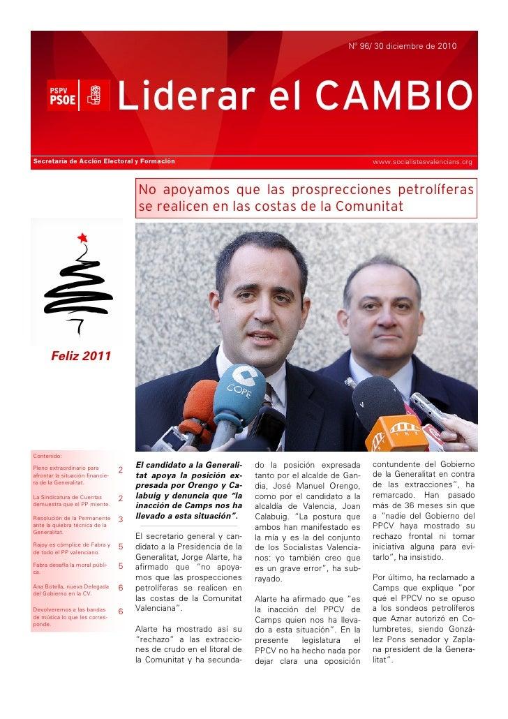 Nº 96/ 30 diciembre de 2010                                  Liderar el CAMBIOSecretaría de Acción Electoral y Formación  ...