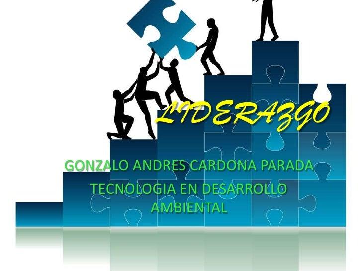 LIDERAZGOGONZALO ANDRES CARDONA PARADA   TECNOLOGIA EN DESARROLLO          AMBIENTAL