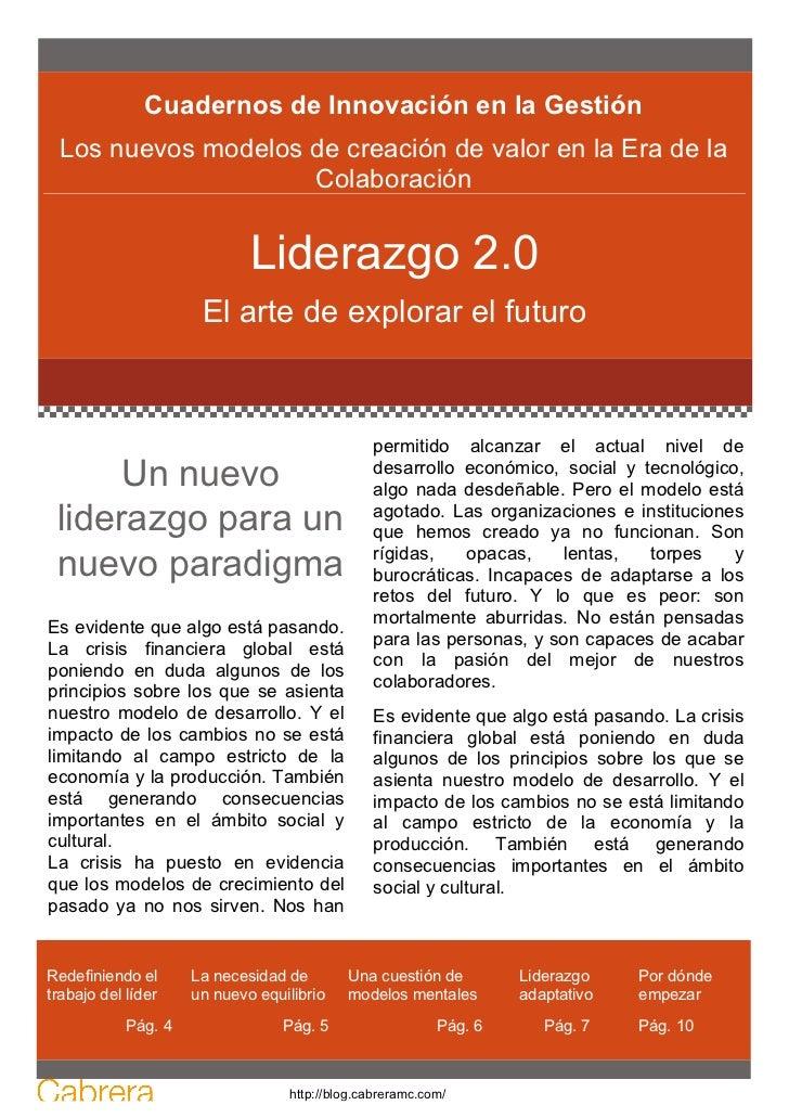 Cuadernos de Innovación en la Gestión Los nuevos modelos de creación de valor en la Era de la                    Colaborac...
