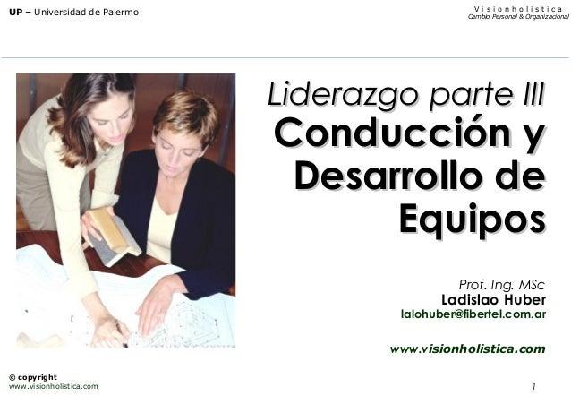 1 V i s i o n h o l i s t i c a Cambio Personal & Organizacional UP – Universidad de Palermo © copyright www.visionholisti...