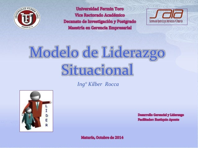 Modelo de Liderazgo  Situacional  Ing° Kilber Rocca