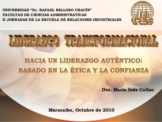 """UNIVERSIDAD """"Dr. RAFAEL BELLOSO CHACÍN"""" FACULTAD DE CIENCIAS ADMINISTRATIVAS II JORNADAS DE LA ESCUELA DE RELACIONES INDUS..."""