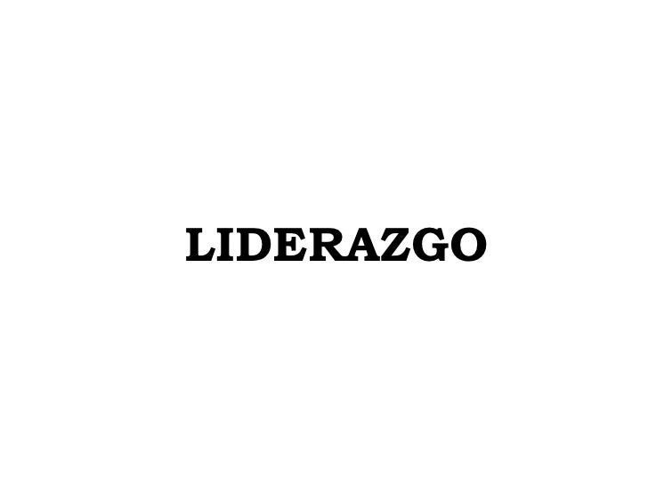 LIDERAZGO <br />