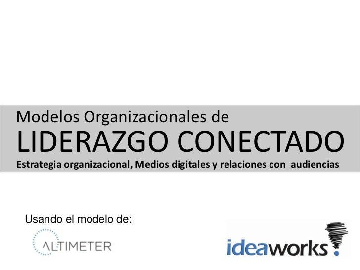 Modelos Organizacionales deLIDERAZGO CONECTADOEstrategia organizacional, Medios digitales y relaciones con audiencias Usan...