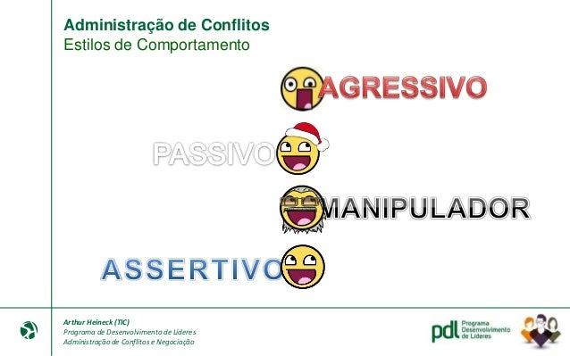 Arthur Heineck (TIC) Programa de Desenvolvimento de Líderes Administração de Conflitos e Negociação Negociação Atividade