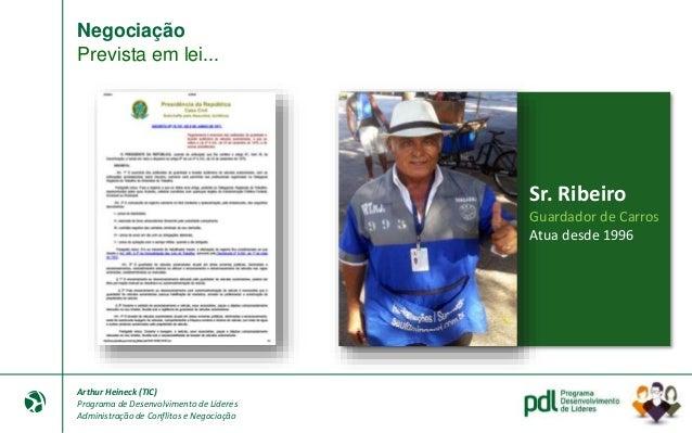 Arthur Heineck (TIC) Programa de Desenvolvimento de Líderes Administração de Conflitos e Negociação Negociação Ciência: Ca...