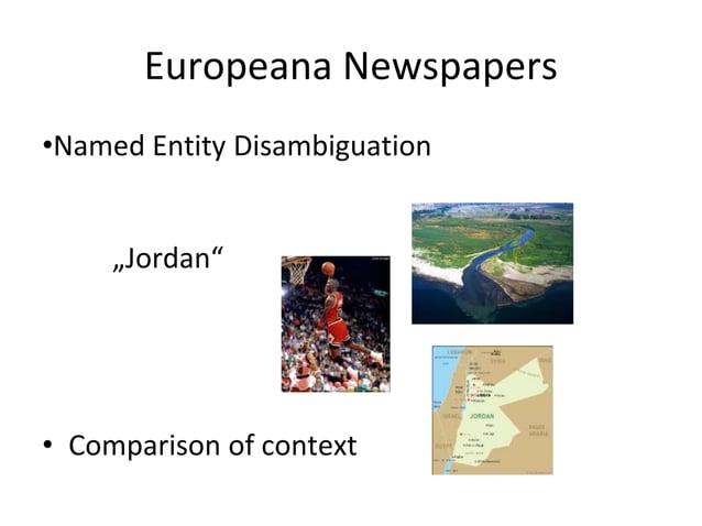 Europeana Newspapers •Named Entity Linking wikidata.org/wiki/Q41421 freebase.com/m/054c1 lccn.loc.gov/n92121379
