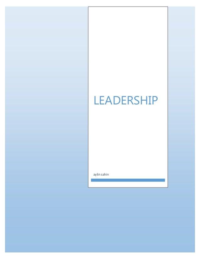 LEADERSHIP aylin sahin