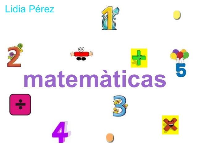 Lidia Pérez   matemàticas