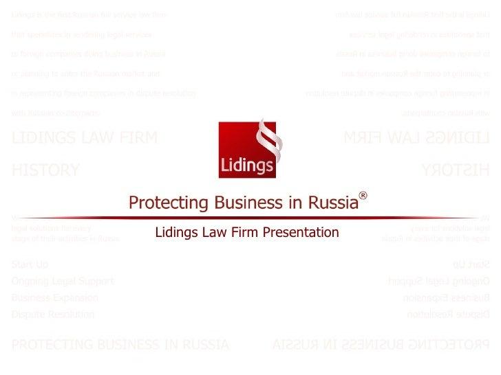 Lidings Law Firm Presentation